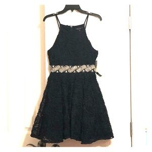 semi dress, navy blue